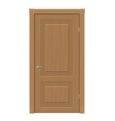 wooden door isolated vector image vector image