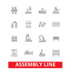 assembly line factory industry manufacturing vector image vector image
