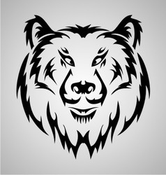 Bear face tattoo vector