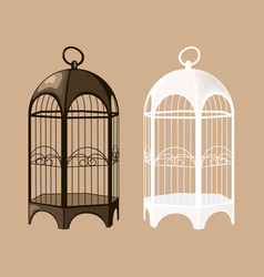 bird cage set vector image