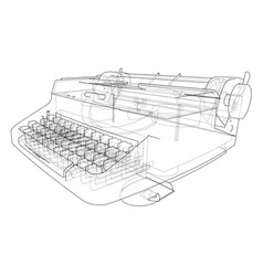 concept of typewriter vector image