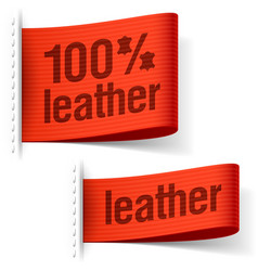 Leather product clothing labels vector image vector image
