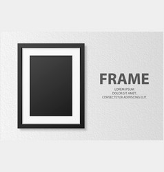 3d realistic blank vertical a4 black wooden vector image