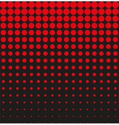 Abstract background black red halftone vector image