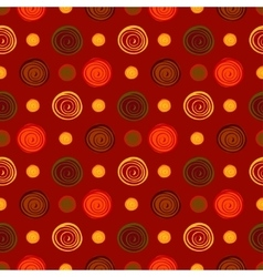Abstract circles seamless pattern background vector