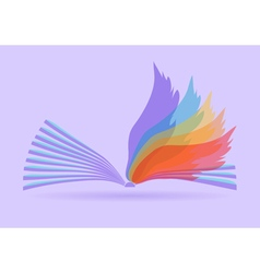 abstract opened book vector image