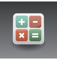 App icon calculator vector
