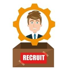 avatar man recruit vector image