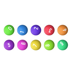 Balls for lottery collection vector