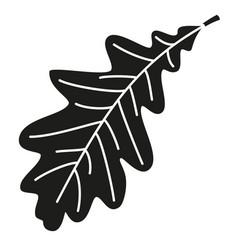 black and white single oak leaf silhouette vector image