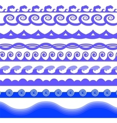 Blue sea waves vector