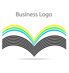 Book with color pages business logo stock vector
