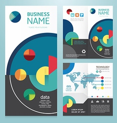 Business brochure modern design template vector