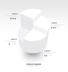 Business Infographics circle graph white color vector