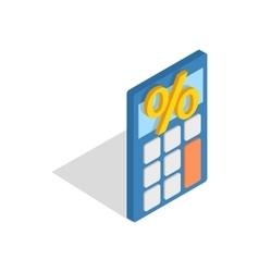 Calculator icon isometric 3d style vector
