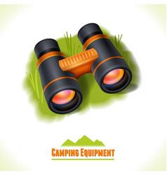 Camping symbol binocular vector image