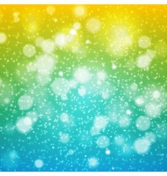 CHRISTMAS Rainbow background yellow green blue vector image