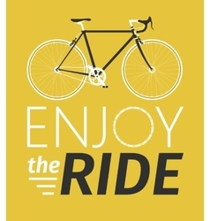 Classic mens town road bike with enjoy the ride vector image