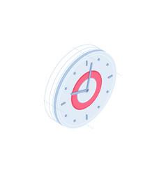 clock isometric icon vector image
