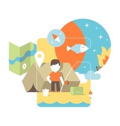 Conceptual fishing vector
