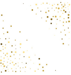 corners frame cosmic abstract pattern with gold vector image