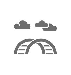 curved ladder for playground grey icon vector image
