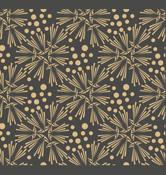 dandelion flower seamless pattern vector image