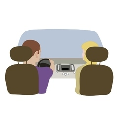 depicting a driver and vector image