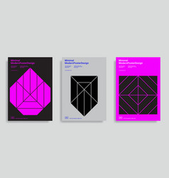design templates with simple geometric shapes vector image