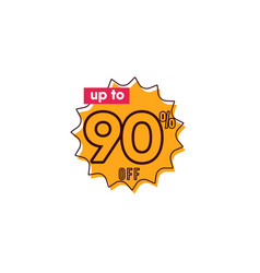 Discount up to 90 off label template design vector