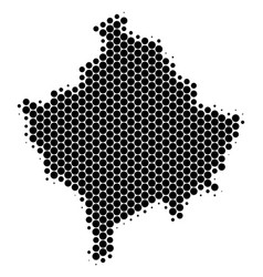Dot halftone kosovo map vector