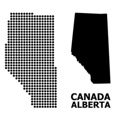 Dotted pattern map alberta province vector