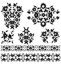 elegant pattern black and white vector image