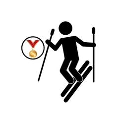 extreme sport avatar ski design vector image