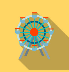 Ferris wheel icon flate single building icon from vector