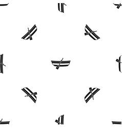 fishing boat pattern seamless black vector image