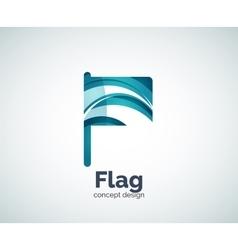 Flag logo template vector