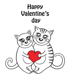 Funny composition with two cats in love vector
