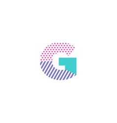 G geometric letter logo icon design vector