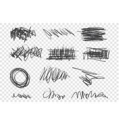 grunge scribbles set vector image