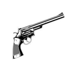 Gun 357 magnum revolver vector