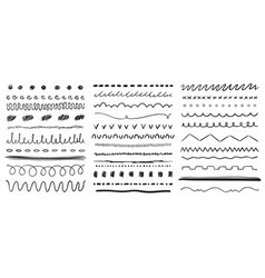 hand drawn line ink pen drawing lines underline vector image