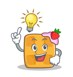 have an idea waffle character cartoon design vector image