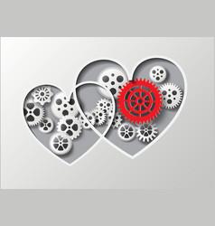 Heart and gear vector