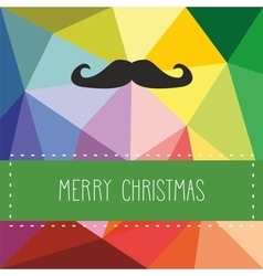 holidays card with hipster mustache vector image