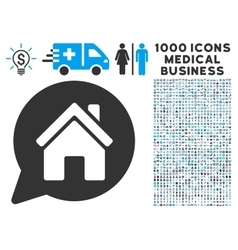 House Mention Icon with 1000 Medical Business vector