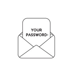 Icon concept open envelope with your password vector
