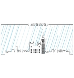Isolated skyline of London vector