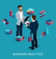 Isometric set businessmen in suits vector