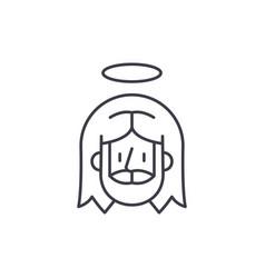 jesus line icon concept jesus linear vector image